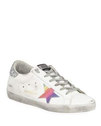 Golden Goose Superstar Rainbow Platform Lace-Up Sneakers