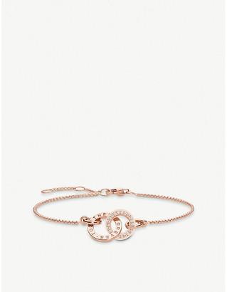 Thomas Sabo Together Forever rose gold-plated cubic zirconia bracelet