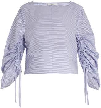 Tibi Elliot square-neck striped cotton top