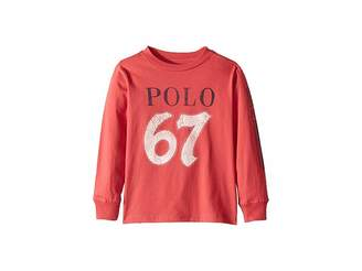 Polo Ralph Lauren Cotton Jersey Graphic T-Shirt (Little Kids/Big Kids)