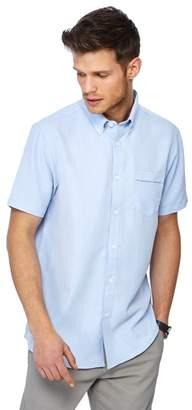The Collection - Light Blue Button Down Collar Short Sleeve Regular Fit Oxford Shirt