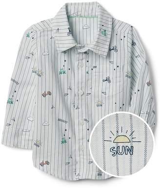 Gap Graphic Oxford Shirt