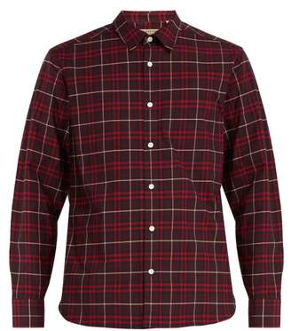 Burberry George Vintage Check Cotton Blend Shirt - Mens - Burgundy Multi