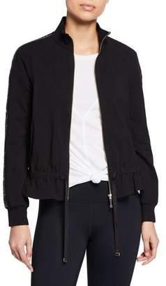 Kate Spade Logo Ruffle Zip-Front Jacket