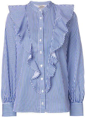 Baum und Pferdgarten ruffle striped blouse