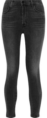 J Brand - Alana Cropped High-rise Skinny Jeans - Gray $240 thestylecure.com