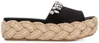 Miu Miu braided sole sandals
