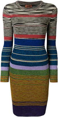 Missoni striped fitted dress