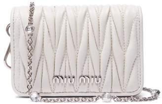 Miu Miu Mini Mattelasse Leather Cross Body Bag - Womens - White d74d041129fa4