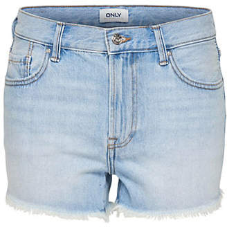 Only Raw-Edge Denim Shorts