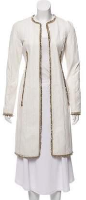 J. Mendel Embellished Long Textured Jacket