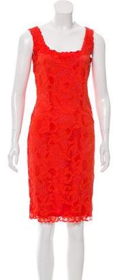 Josie Natori Lace Knee-Length Dress
