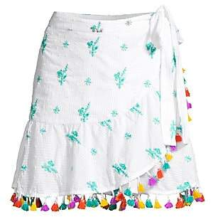 Tessora Women's Lena Pom-Pom Wrap Skirt