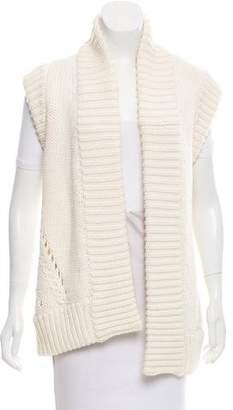Oscar de la Renta Open Knit Wool Cardigan