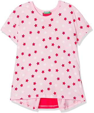 Benetton Girl's T-Shirt (Pink 901), (Manufacturer Size: 1y)