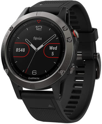 Garmin Unisex fenix 5 Black Silicone Strap Gps Smart Watch 47mm