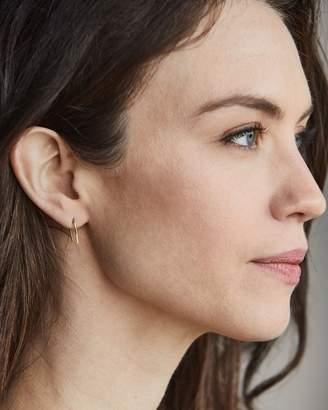 Nisolo Brass Hammered Hook Earrings