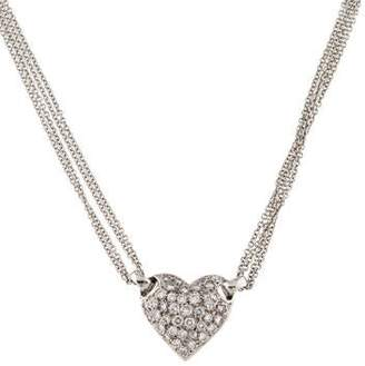 14K Diamond Pavé Heart Pendant Necklace