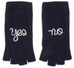 Yes No Cashmere Fingerless Gloves