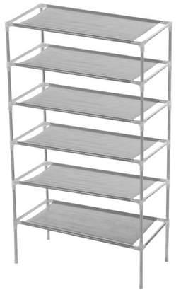 Yosoo YOSOO Non-woven Fabric Shoes Rack Multi-tiers Storage Shelves Organizer Wall Bench Shelf Closet Organizer Storage Box Stand Holder Stackable US(6 Tiers)