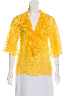 Diane von Furstenberg Alora Silk-Blend Blouse