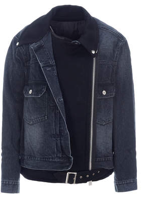 Sacai Biker Denim Jacket
