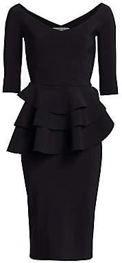 Chiara Boni Women's Kerrigan Ruffle Peplum Gown