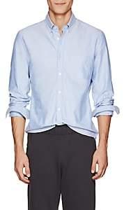 Tomas Maier MEN'S COTTON OXFORD CLOTH BUTTON-DOWN SHIRT-BLUE SIZE S