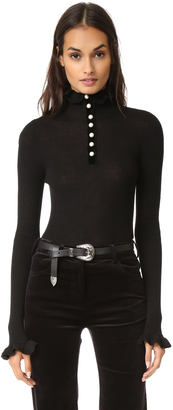 Philosophy di Lorenzo Serafini Sweater with Ruffle Neck $580 thestylecure.com
