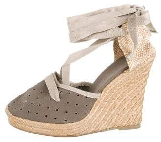 Stella McCartney Canvas Wedge Espadrilles