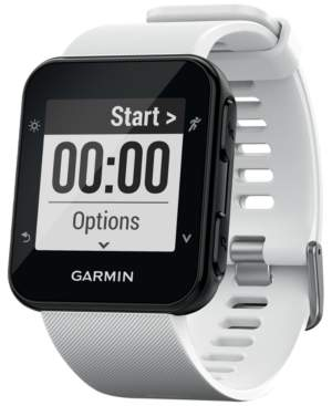 Garmin Unisex Forerunner 35 White Silicone Strap Smart Watch 41mm