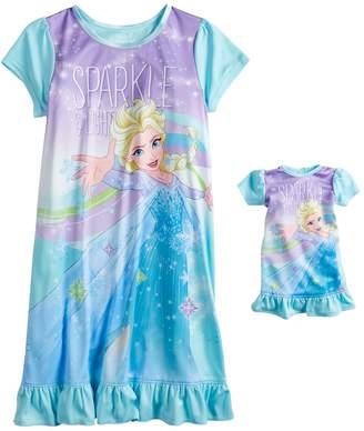 at Kohl s · Disney Disney s Frozen Elsa Girls 4-8 Ruffled Dorm Nightgown    Matching Doll Gown 795c4e206