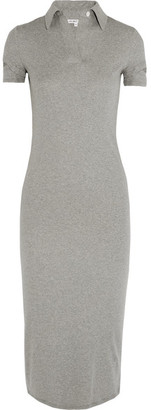 Helmut Lang - Cutout Cotton-jersey Midi Dress - Gray $295 thestylecure.com