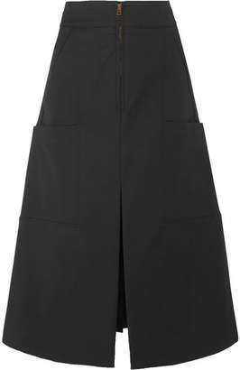 Chloé Stretch-cotton Midi Skirt - Black