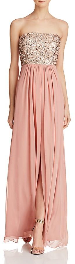 Aidan Aidan Sequin-Bodice Strapless Gown - 100% Exclusive