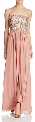 Aidan Aidan Sequin-Bodice Strapless Gown - 100% Exclusive $295 thestylecure.com