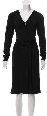 By Malene Birger Draped Long Sleeve Dress