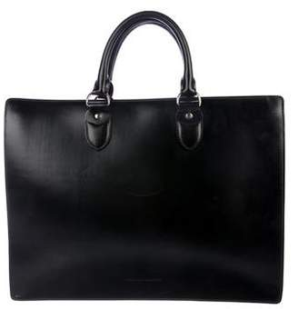 Brunello Cucinelli Leather Top Handle Briefcase