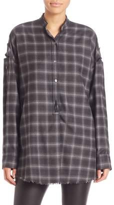 Helmut Lang Women's Wool Blend Plaid Shirt