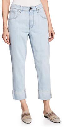 Brunello Cucinelli Acid-Washed Straight-Leg Jeans