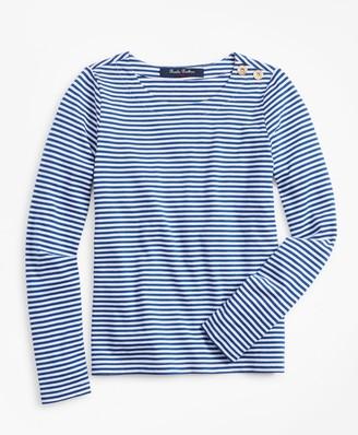Brooks Brothers Girls Cotton Blend Stripe T-Shirt