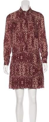 Haute Hippie Silk Mini Dress tan Silk Mini Dress