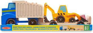 Melissa & Doug 8-Piece Dump Truck Loader Vehicle Set