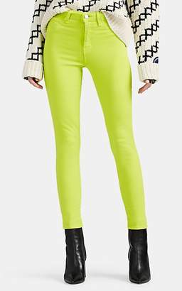L'Agence Women's Margot High-Rise Skinny Crop Jeans - Lt. Green