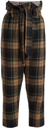 VIVIENNE WESTWOOD ANGLOMANIA New Kung Fu wool-blend tartan cropped trousers