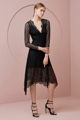 Keepsake PRELUDE LACE LONG SLEEVE MAXI DRESS black