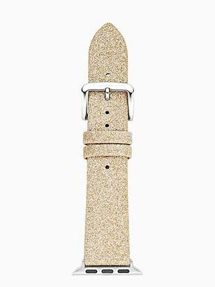 Kate Spade Gold glitter leather 38/40mm apple watch® strap