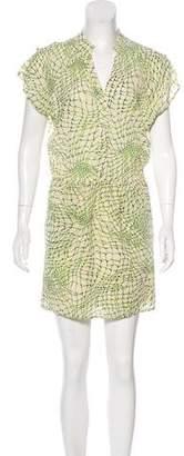 Alice + Olivia Abstract Print Silk Dress