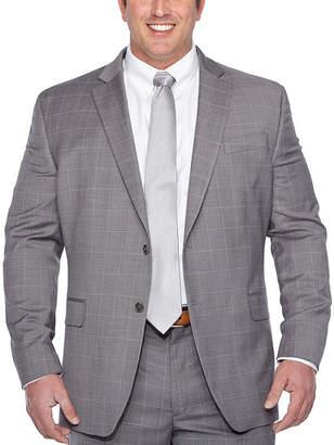 STAFFORD Stafford Gray Windowpane Classic Fit Suit Jacket - Big & Tall