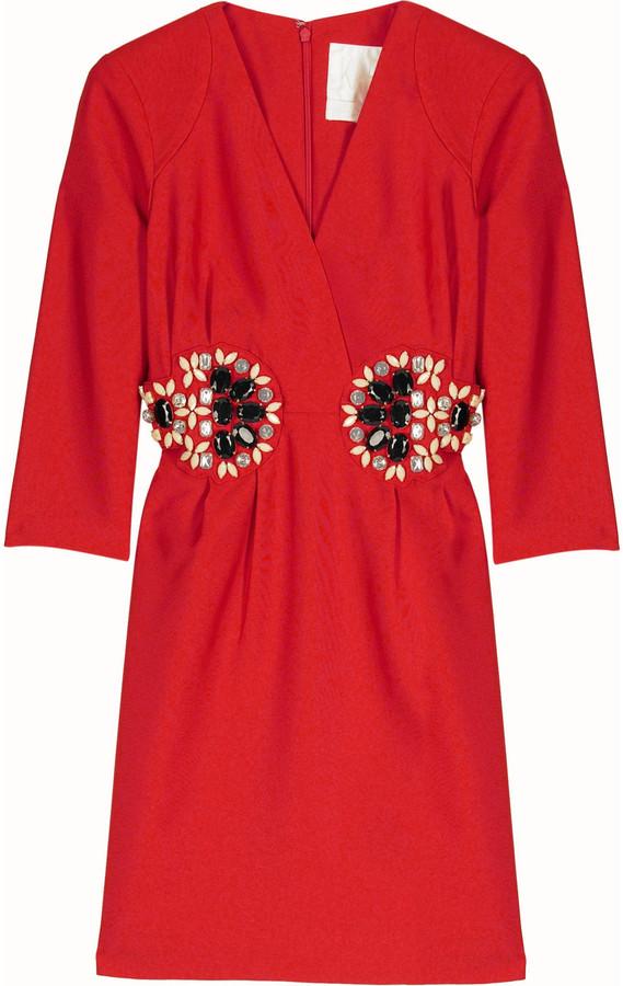 Karta Jewel embellished dress